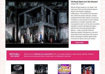 mitchell-arts-centre-website-design